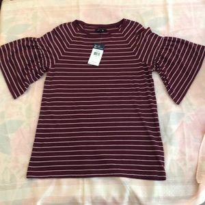 NWT. Women's Chaps striped top